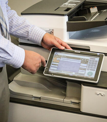 using the copier interface