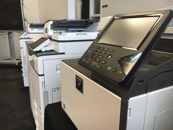 row of copiers